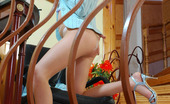 ePantyhose Land Marion Horny Chick Pulling Down Her Silky Pantyhose And Fourfingering Her Pussy ePantyhose Land
