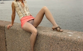 ePantyhose Land Shenythia Sensuous Outdoor Upskirt Tease Performed By The Sweetie In Grey Pantyhose ePantyhose Land