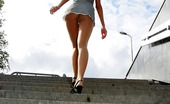 ePantyhose Land Irene Hot Teaser In Skimpy Attire Lifting And Spreading Legs In Extra Sheer Hose ePantyhose Land