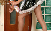 ePantyhose Land Stephanie Sizzling Hot French Maid Having A Break While Fondling Her Smashing Body ePantyhose Land