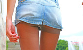 ePantyhose Land Anya Upskirt Babe In Grey Control Top Hose Giving A Glimpse Of Her Nyloned Pussy ePantyhose Land