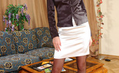 ePantyhose Land Orsi Sizzling Hot Chick Baring Her Perky Tits And Slipping Into Her Black Hose ePantyhose Land