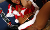 ePantyhose Land Mishelle Tempting Babe Wearing Her Sexy Santa Costume With Glossy Suntan Pantyhose ePantyhose Land