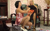 ePantyhose Land Ottilia & Rosaline Hot Gal Giving A Glimpse Of Her Barely Black Pantyhose While Seducing Cutie ePantyhose Land