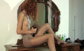 ePantyhose Land Cora Heated Teaser In Shiny Control Top Pantyhose Taking Out Her Beloved Dildo ePantyhose Land