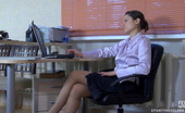 ePantyhose Land Tina & Cora Sapphic Chick Lowers Her Glossy Pantyhose Begging For Steamy Strap-On Fuck ePantyhose Land