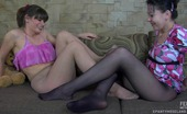 ePantyhose Land Sibylla & Gloria Lesbian Babes In Sheer Pantyhose Revealing Their Skills In Lez Making Out ePantyhose Land