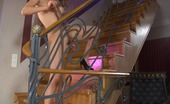 ePantyhose Land Rosa Nasty Girl Plays With Hosiery And Rubs Her Pantyhosed Pussy On The Stairs ePantyhose Land