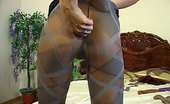 ePantyhose Land Nora Dressy Hottie Rips To Shreds Her Black Tights To Try On New Colored Hosiery ePantyhose Land