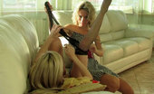 ePantyhose Land Annabel & Rosa Playful Lez Babes Get Laddered Pantyhose After Sensual Nylon Pussy Eating ePantyhose Land
