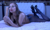 ePantyhose Land Mercy Clad In Pantyhose From Top To Toe Babe Sucks And Stuffs Her Big Rubber Cock ePantyhose Land