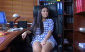 ePantyhose Land Mima Petite Secretary Feels Like Dildo Toying After Admiring Her Legs In Tights ePantyhose Land