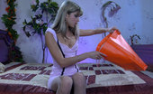 ePantyhose Land Gina Fair-Haired Sweetie Gets Fully Naked Before Changing Into Her New Pantyhose ePantyhose Land