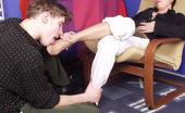 Nylon Feet Line Ethel & Mike Handsome Guy Tenderly Massaging Babe'S Feet Clad In Lacy Open Toe Pantyhose Nylon Feet Line