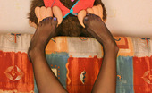 Nylon Feet Line Dolores Vivacious Redhead Chick Showing Her Pantyhose Clad Pussy To Her Plush Bear Nylon Feet Line