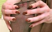 Nylon Feet Line Emmie Playful Babe Taking Steamy Bath Right In Her Black Sheer-To-Waist Pantyhose Nylon Feet Line