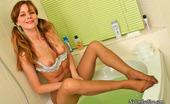 Nylon Feet Line Antoinette Lewd Gal Preparing To Take Hot Bath Without Taking Off Her Suntan Pantyhose Nylon Feet Line