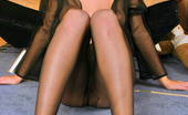 Nylon Feet Line Jakline Cutie Is Shy But Too Curious To Tease With Her Luxury Sheer-To-Waist Hose Nylon Feet Line