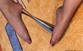 Nylon Feet Line Elvira Extremely Sexy Babe In Nylon Pantyhose Revealing New Ways To Use Usual Vase Nylon Feet Line