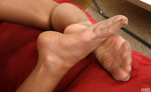 Nylon Feet Line Colette Frisky Babe Savors The Feel Of A Cone Between Her Feet In Nylon Pantyhose Nylon Feet Line
