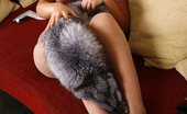 Nylon Feet Line Goldy Smashing Looking Babe Tenderly Tickling Her Nyloned Feet With Her Fur Coat Nylon Feet Line