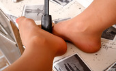 Nylon Feet Line Kate Vivacious Gal Knows Various Ways How To Use Her Nyloned Feet In The Kitchen Nylon Feet Line