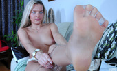 Nylon Feet Line 563861 Carol Gorgeous Gal With Yummy Feet Playfully Puts On Her New Shoes And Nylon Hose Nylon Feet Line
