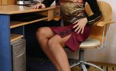 Nylon Feet Line Natasha Frisky Gal In Suntan Pantyhose Using Various Objects In Sizzling Foot Games Nylon Feet Line