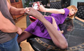 Nylon Feet Line Olivia & Nicholas Pantyhosed Chick Directs A Guy'S Cock Into Her Muff After Wild Foot Games Nylon Feet Line