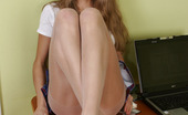 Nylon Feet Line Alaska Naughty Chick Biting And Licking Her Feet Right Through Her White Pantyhose Nylon Feet Line