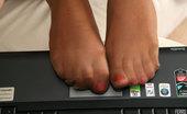 Nylon Feet Line Alika Busty Beauty Sniffing Her High Heels While Aching To Taste Her Nyloned Feet Nylon Feet Line