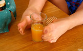 Nylon Feet Line Natasha Heated Teaser Sips Her Juice And Licks Her Feet Encased In Soft Silky Hose Nylon Feet Line