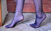 Nylon Feet Line Crystal Hot Sexpot Takes Off Gorgeous Open Shoes To Leek Her Smooth Nylon Clad Feet Nylon Feet Line