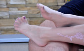 Nylon Feet Line Mima Exotic Girl Gets Her Nyloned And Heeled Feet Worshipped For Hot Footjob Fun Nylon Feet Line