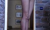 Nylon Feet Line 564126 Madeleine Sexy Babe Shows Off Mile-Long Legs And Slender Feet In Crazy Platform Heels Nylon Feet Line