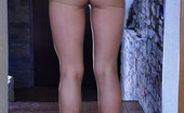 Nylon Feet Line Amelia Upskirt Teaser Exposing Her Soft Soles And Painted Toes Thru Tan Pantyhose Nylon Feet Line