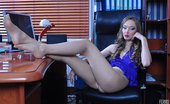 Nylon Feet Line Emmanuel Stunning Office Babe Dangles Her Stiletto Pump And Teases With Nyloned Feet Nylon Feet Line