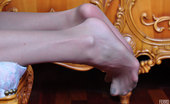 Nylon Feet Line Keith Nasty Cock-Teaser Wiggles Her Pantyhose Toes While Toying With A Butt Plug Nylon Feet Line