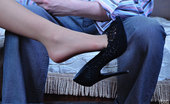 Nylon Feet Line 564229 Crystal & Rolf Dark-Haired Teaser Dangles Her Shoe Ready To Get Creamed Feet After Raw Sex Nylon Feet Line