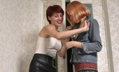 Pantyhose 1 Polina & Elena Stunning Chick Tongue-Polishing Pussy While Pulling Down Suntan Pantyhose Pantyhose 1