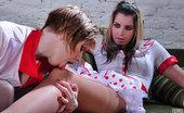 Pantyhose 1 Barbara & Alina Hot Lesbians Enjoy Role Play In Their Nurse Uniforms And Stylish Pantyhose Pantyhose 1