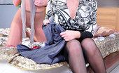 Pantyhose 1 Jennie & Sandy Kinky Lesbians Lick Nyloned Legs And Slits Indulging Their Pantyhose Fetish Pantyhose 1