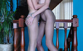 Pantyhose 1 Fiona Lesbian Stunners Get Down And Dirty Exposing Their Mile-Long Legs In Tights Pantyhose 1
