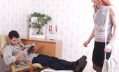 Pantyhose Line Elena & Igor Hot Lover Almost Getting Off While Staring At Seductive Pantyhosed Pussy Pantyhose Line
