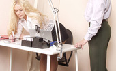 Pantyhose Line Bridget & Richard Salacious Pantyhosed Secretary In Fervent Kiss-N-Lick Action In The Office Pantyhose Line