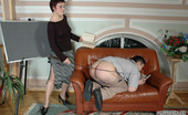 Pantyhose Line Ethel & Adam Strict Teacher In Silky Pantyhose Giving Sizzling Hot Lesson To Horny Dude Pantyhose Line
