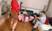 Pantyhose Line Essie & Curious Guy Staring At Clit-To-Clit Action With Steaming Hot Gals In Nylons Pantyhose Line