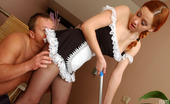 Pantyhose Line Salome & Adrian French Maid In Sheer Black Pantyhose Having Time For Fucking Entertainment Pantyhose Line
