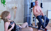Pantyhose Line Alina & Nicholas Nasty Babe In Crotchless Grey Hose Teases A Buff Man To Get A Milky Load Pantyhose Line