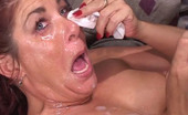 Messy Gang Bangs Interracial Gangbang With A Slut Fucking Several Dicks Messy Gang Bangs
